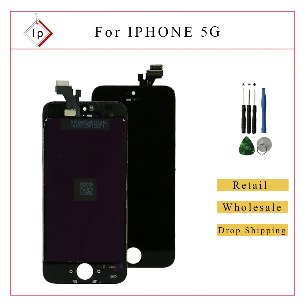 Replacement LCD Display Touch Screen Digitizer Assembly for iPhone 5 Black / White