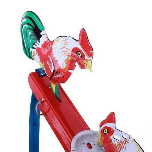 ailucy Vintage Toy Tin Rooster Peck Working Condition Antique Tin Toy(China (Mainland))