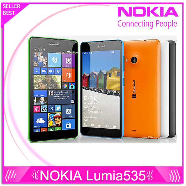 Original Nokia Lumia 535 Cell Phones Windows Phone 8.1 5.0 ...