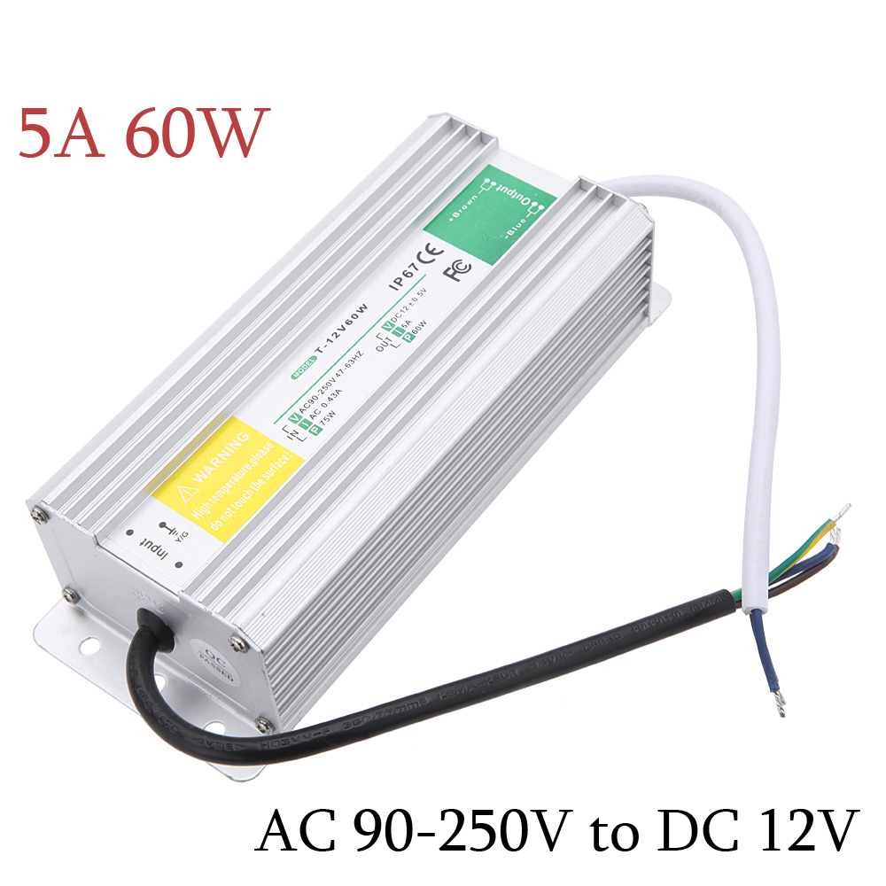 NEW AC 90-250V to DC 12V Waterproof voltage regulator High efficiency Short circuit protection Power Supply for LED display(China (Mainland))