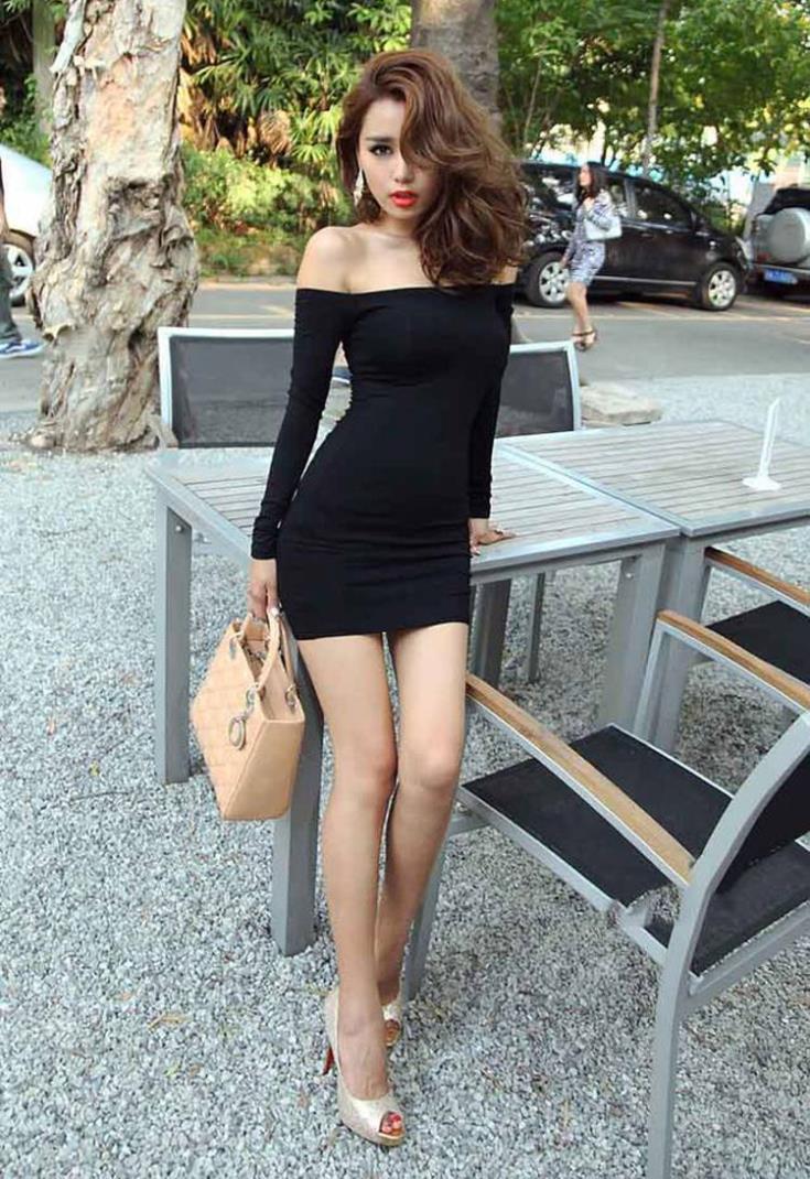 Фото нагнувшись чёрные в платьях 9 фотография