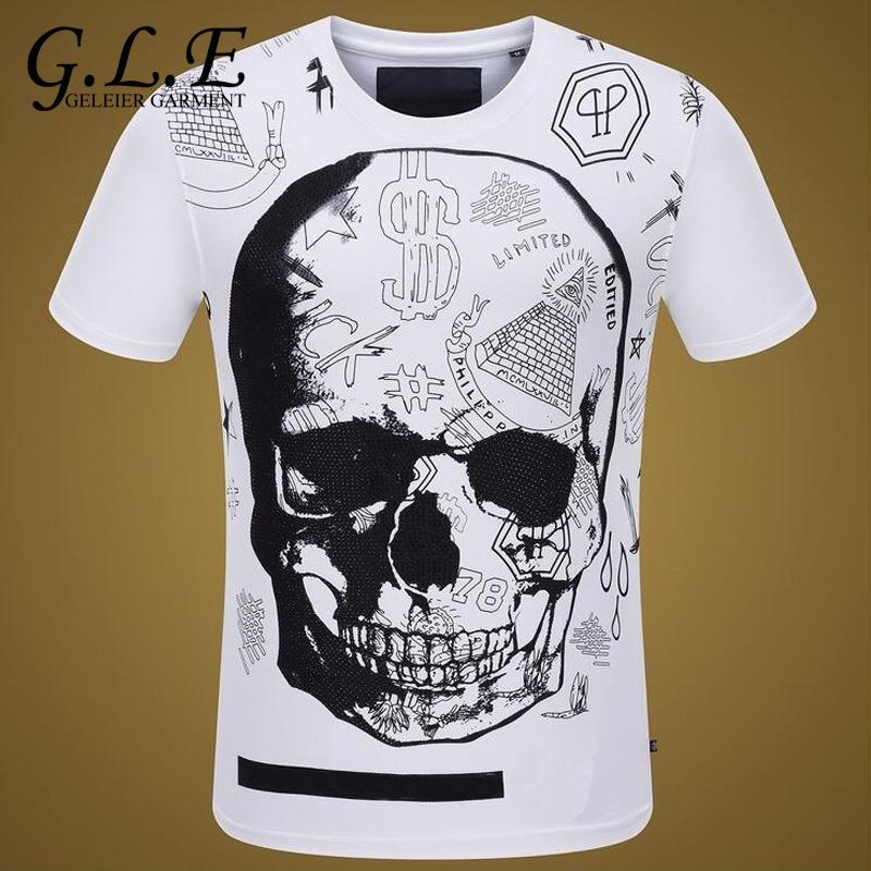 Cotton t shirt new men 39 s short sleeve t shirt fashion for T shirt brand logo
