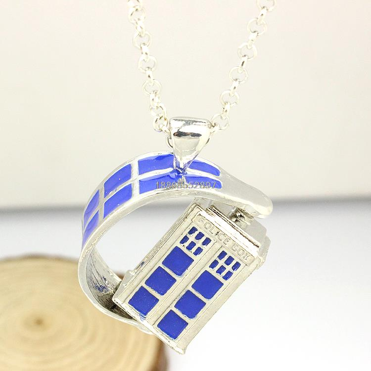 Hot MOVIE Doctor Who originality rotatable house logo charm necklace with metal chain cosplay jewelry