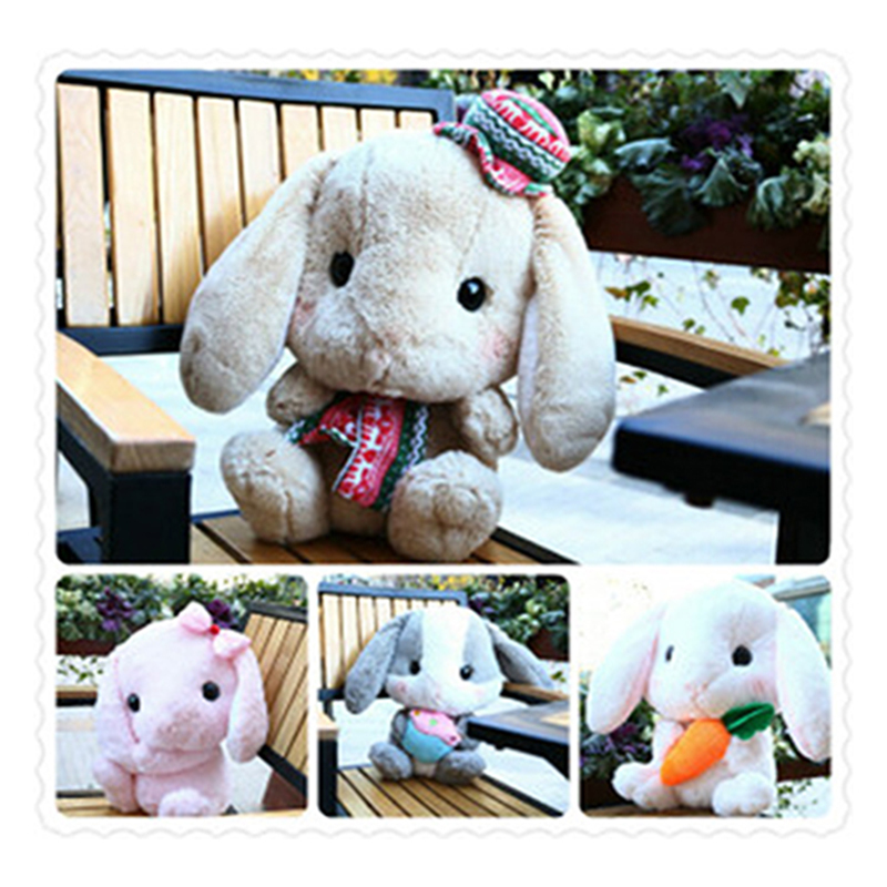 Amuse rabbit doll plush toy new cute lop rabbit Bugs Bunny doll plush toy stuffed toy rabbits bulk of Christmas gift girls dolls(China (Mainland))