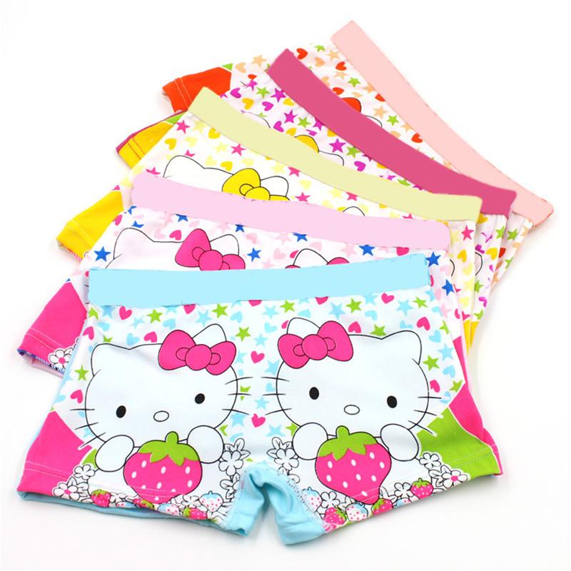 5Pcs/Lot 2016 cotton 3-11 years baby boys girls panties Cartoon Kids underwear pants Children's briefs Girls Cute boxer shorts(China (Mainland))