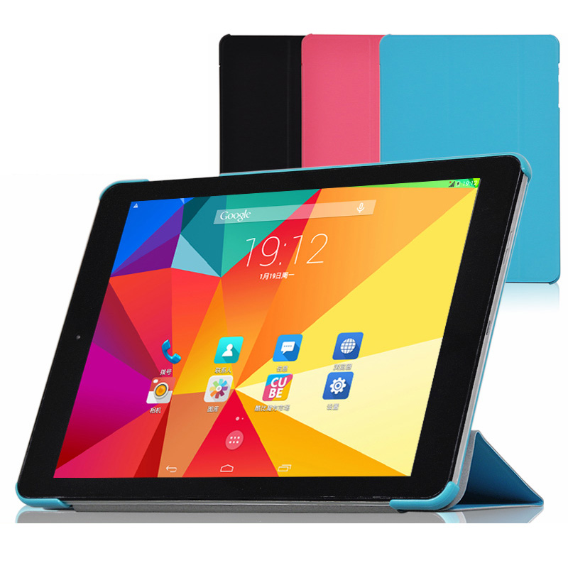 """3-Folding Ultra Thin Slim Sleeve Magnetic Folio Stand PU Leather Skin Case Smart Cover For Cube TALK9X Talk 9X U65GT 9.7"""" Tablet(China (Mainland))"""