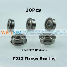 10Pcs F623 Flange bearing 3*10*4mm With flange Edge Laser Level Instrument Laser line instrument For 3D Printer Accessories