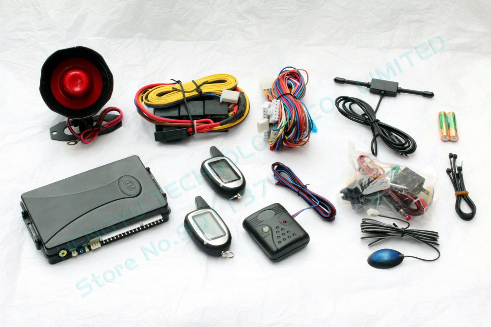 high class two way car alarm system FM V10 engine start with LCD display long distance remote control range:1000 meter(China (Mainland))