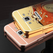 Mirror Back Cover Case Samsung Galaxy J3 (2016) J320 J320F J320P J3109 J320M J320Y Aluminum Metal Frame Hot Phone Cases - Shenzhen Dayup Technology Co., Ltd. store