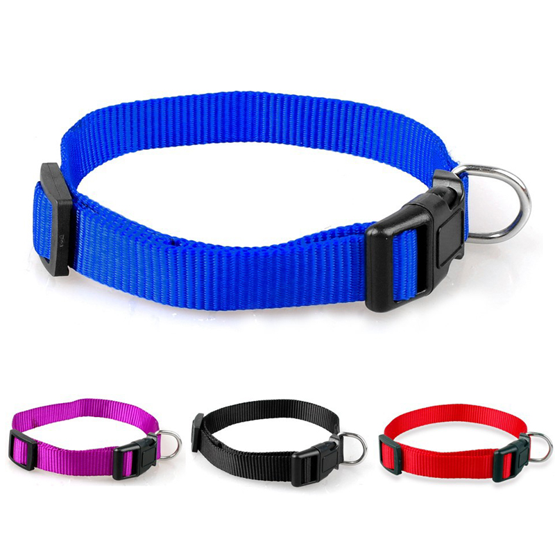 New Adjustable Soft Nylon Pet Puppy Cat Dog Collar Necklace With Buckle Chihuahua Pet Dog Collar Pet Products(China (Mainland))