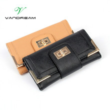 2017 new black women wallets Pu leather long purse luxury popular brand metal hasp women handbag ladies clutch coin bag For gift(China (Mainland))