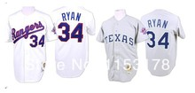 Free shipping , Texas Rangers Jersey #34 Nolan Ryan Authentic Throwback Baseball Jerseys Wholesale baseball(China (Mainland))
