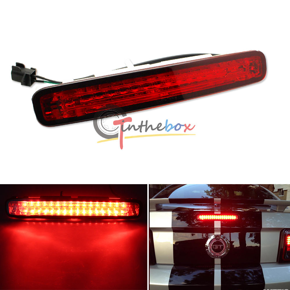1x Red Lens Super Bright 16-LED Third 3rd Brake Light For 2005-2009 Ford Mustang(China (Mainland))