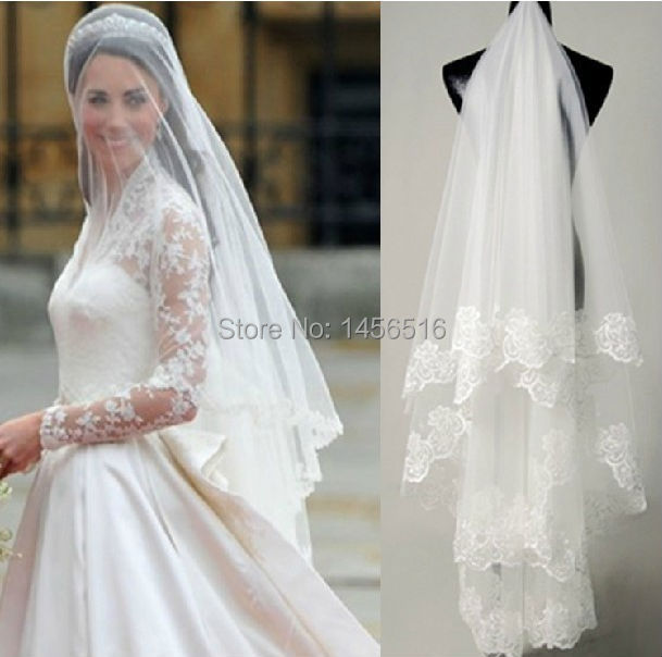 sell bridal veil lace edge cathedral ivory white veils long wedding