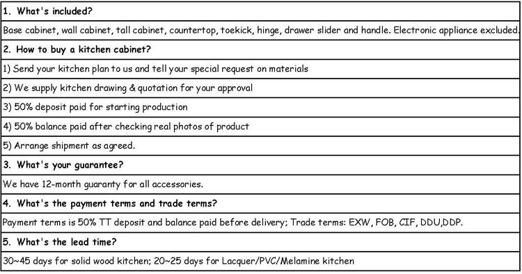 Природа твердые деревянные кухонные шкафчики - 11.11_Double 11_Singles FAQ