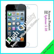 1pcs scratch Front Transparent Clear LCD Screen Protector Film for iphone5 5S Protective film + Cleaning cloth