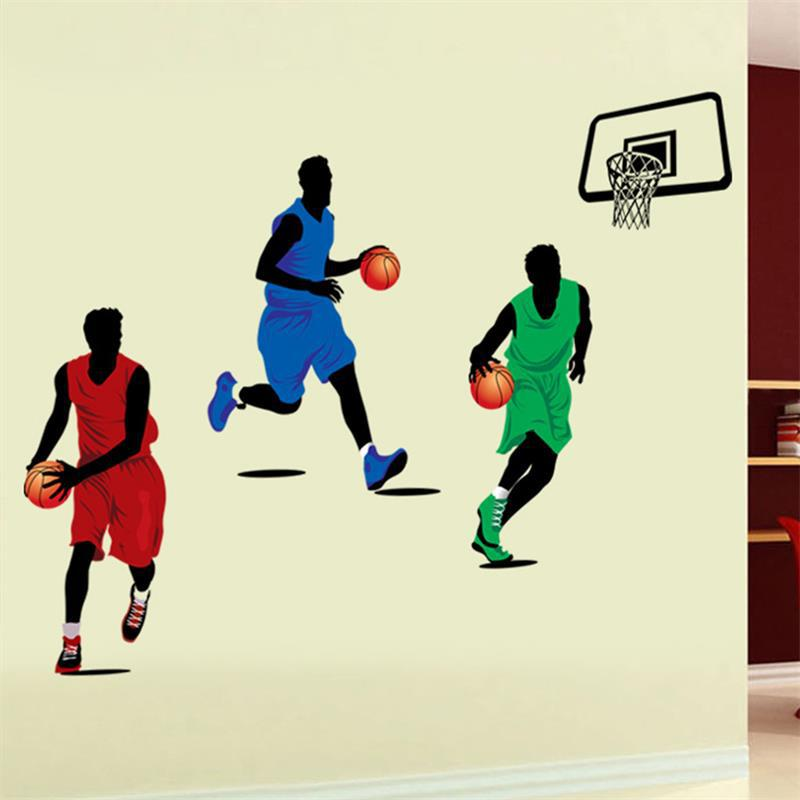Free Shipping Soccer Ball Football 3d Wall Sticker paper 9193 Kids Room Decor Sport Boy Bedroom Poster Wall Decorative Decals(China (Mainland))