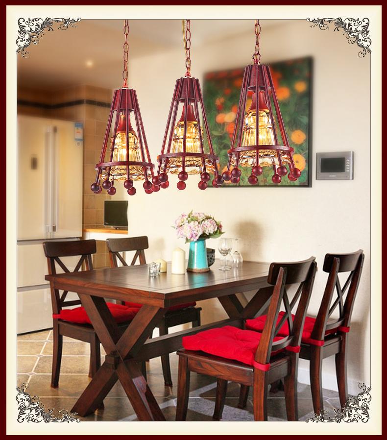 Фотография American restaurant table lamp droplight Chinese style droplight Ceiling Light