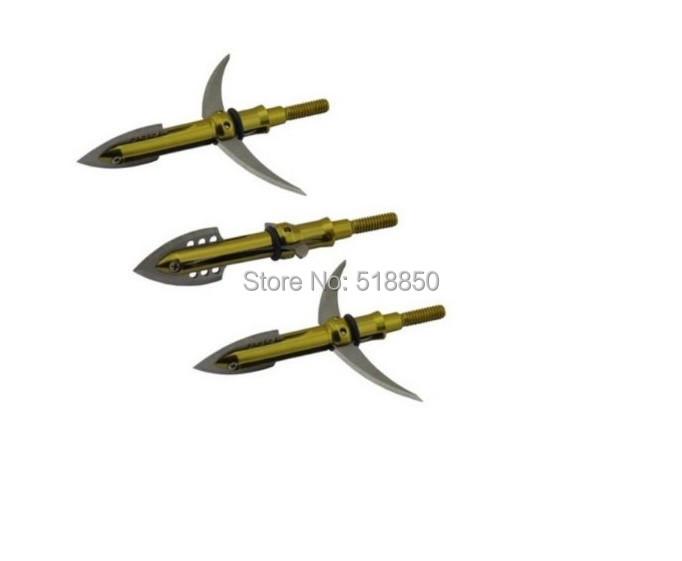 5pcs shooting arrow broadhead 2 blades archery arrow tips for carbon arrow or aluminum arrows free