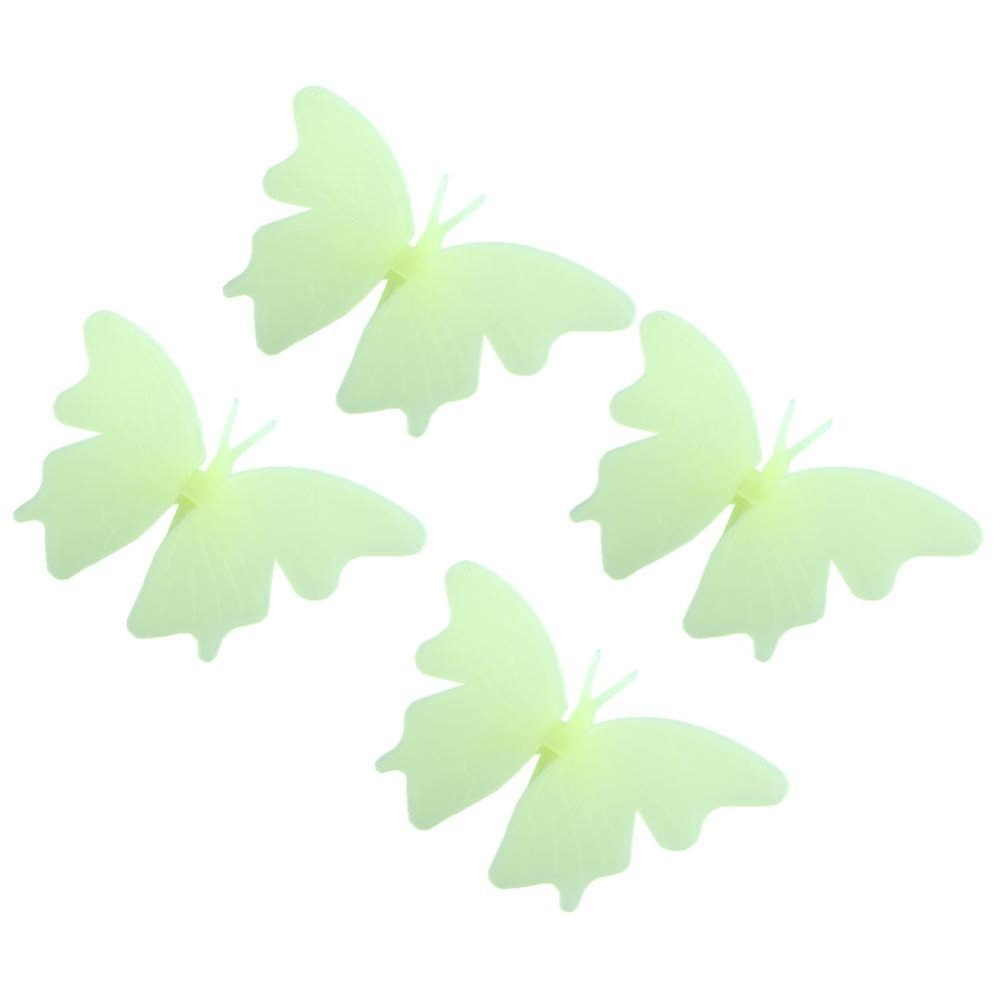 4Pcs Glow In The Dark Butterfly Fluorescent Decal Wall Stickers Creative(China (Mainland))