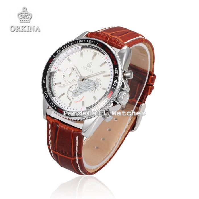 Orkina Часы Люксовый Бренд Высокого класса Мужчин и Женщин Кожа Кварцевые Наручные Часы Fashion Бизнес Часы