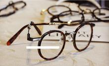 Wholesale Round Eyeglasses Metal Frame Good Quality Plain Eyewear Accessories Points Men Women Korean Solid Glass