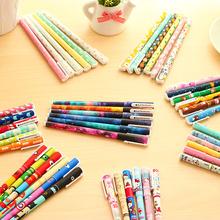 6 pcs/set Cute pens 0.38mm Black ink roller pen Kawaii ballpoint School canetas boligrafos gift Stationery Office supply 6824(China (Mainland))