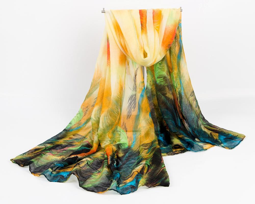 fashion elegant women voile cotton scarf gorgeous feather print plus large size Autumn and Winter shawl stoles Muslim hijab(China (Mainland))