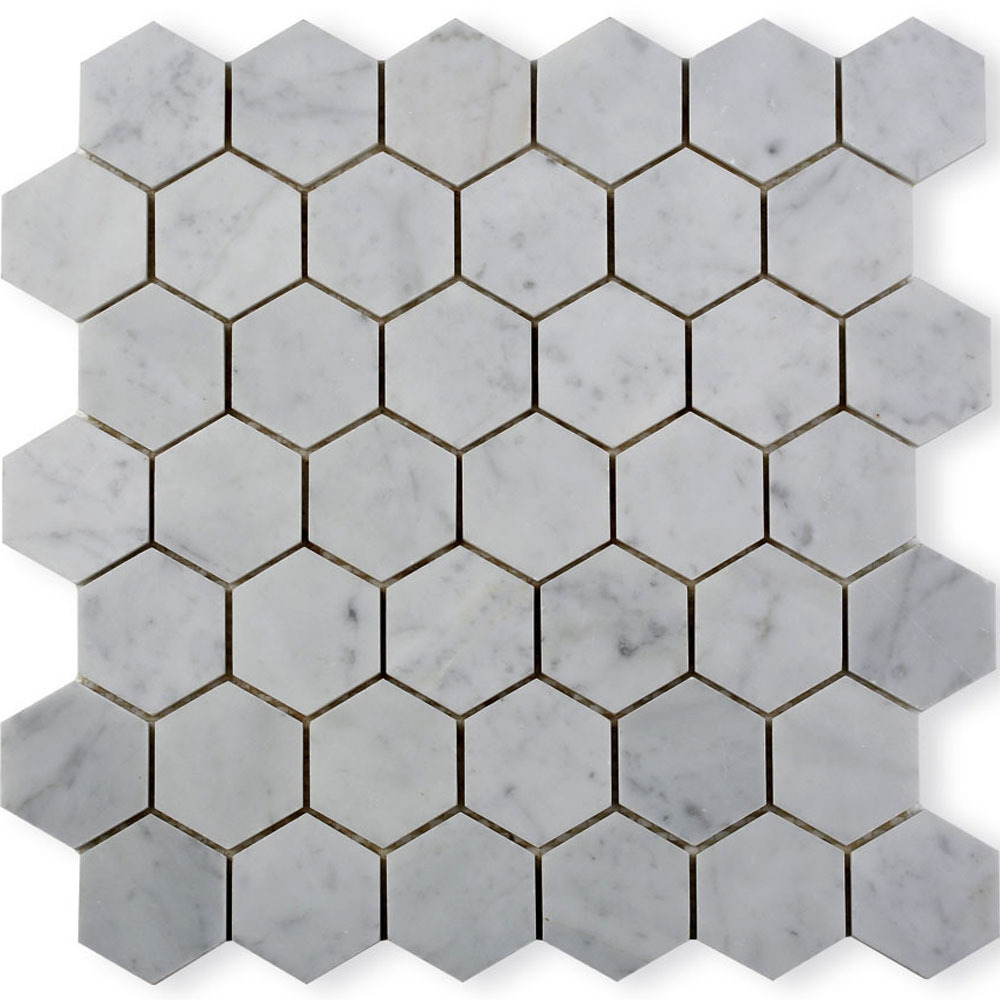 Hot vente carrara hexagone marbre carrelage mosa que dans for Carrelage hexagonal marbre
