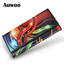 Vintage Women Clutch Genuine Leather Long Wallet Brand For Ladies Clutch Bag Evening Bag With Card Holder Purse(China (Mainland))