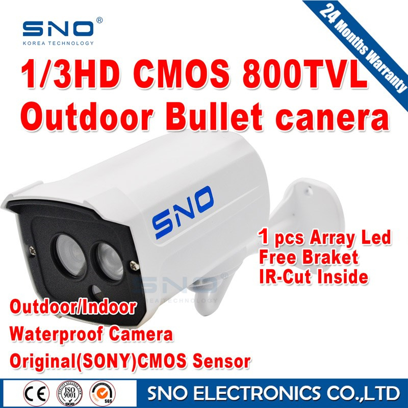Best price 800TVL CMOS 960H 1pcs leds IR 30 meter Day/night waterproof indoor / outdoor CCTV camera with bracket. Free Shipping(China (Mainland))