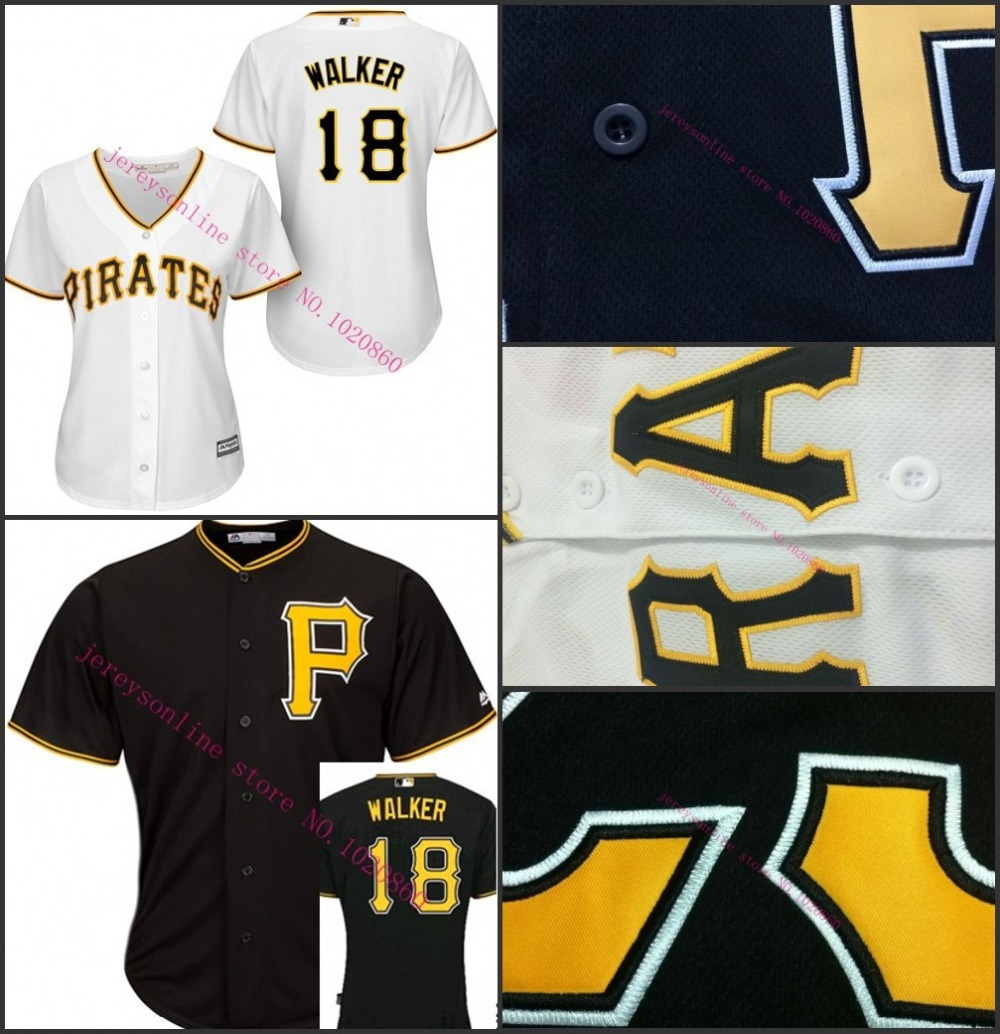 Cheap Hot sale Authentic #18 Neil Walker Women's Baseball Jersey Pittsburgh Pirates Ladies shirt for sale S-2XL Stitched(China (Mainland))