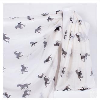 summer style 2015 scarf women Running Horse Print Scarf Animal Scarves Shawl Warm Neck Wrap Stole beach long wraps(China (Mainland))