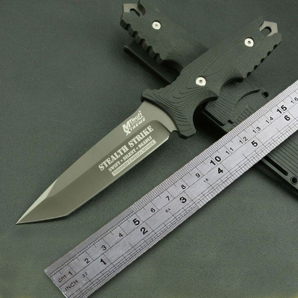 MTech TY-8071 Straight Knife Outdoor Survival tool 5cr13mov blade Camping Hunting Tactical - Tool Speciality Shops store