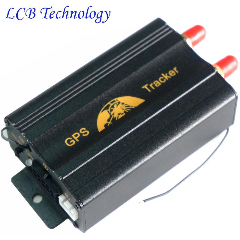 Vehicle Car GPS Tracker TK103B Remote Conctrol+Shake Sensor Real-time Quad band PC GPS track system free shipping(China (Mainland))