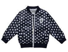 jackets for girls Cute dot casual jacket kids Jacket children outwear new autumn and spring fashion