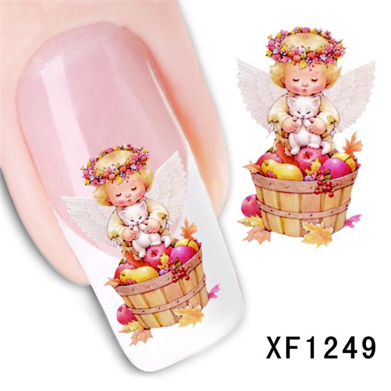 Гаджет  XF nail stickers nail art stickers flower simulation watermark brush cost XF1249 None Красота и здоровье