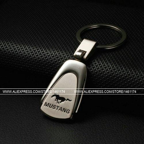 (1pcs)Mustang Car Logo Keychain Men's Metal Keychain Car Styling Interior Accessories Keyfob Key Chain ring car Emblems(China (Mainland))