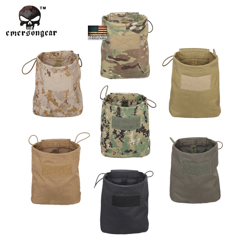 Emersongear Hunting Airsoft Folding Magzine Recycling Bags Emerson Tactical Drop Sundries Pouch Military EM9041(China (Mainland))