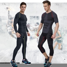 2015 New Arrival Running Pants Men Stripe Designer Bodybuilding Fitness Compression Elastic Sports Pants Men's Running Tights