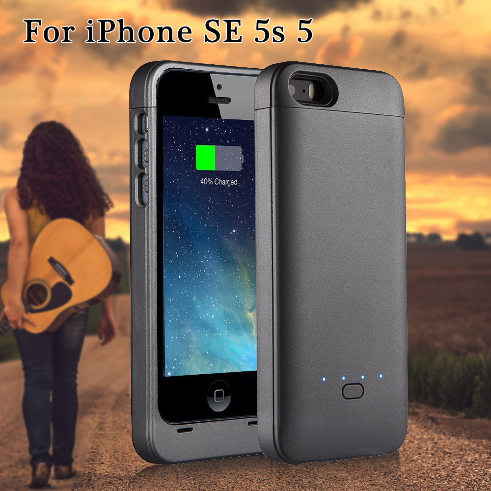 XCOMM for iPhone SE 5s 5 Power Case MFI Certified 2200mAh Backup Battery Charger Phone Case Cover for iPhone SE 5s 5(China (Mainland))