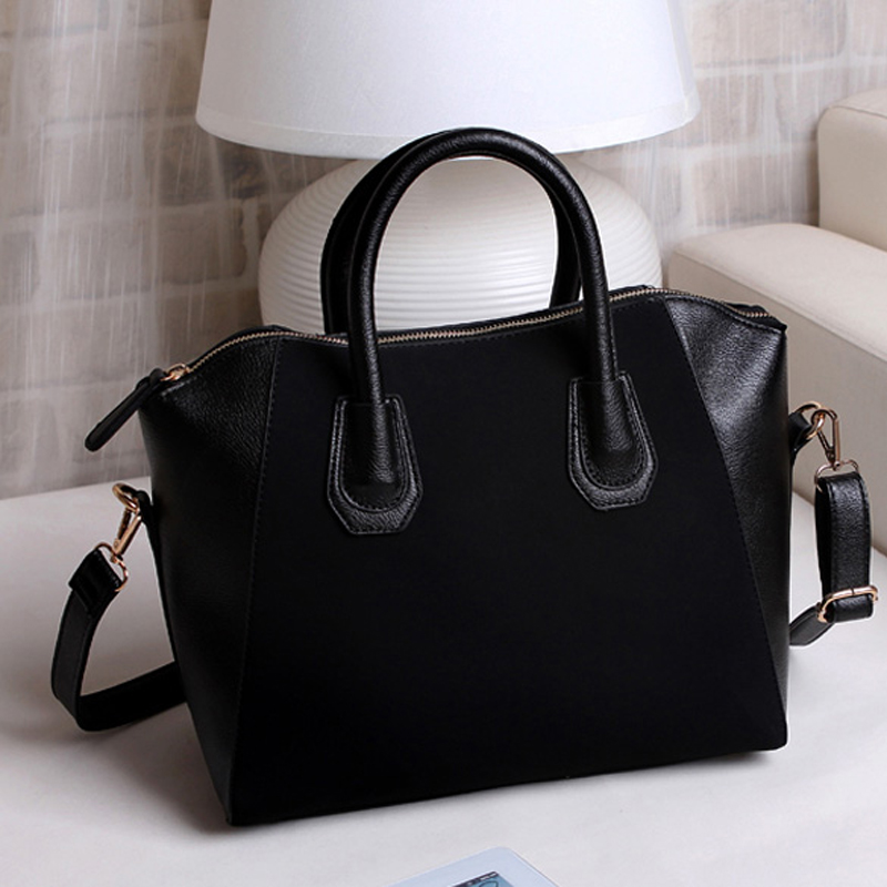 High Quality 2016 Hot Sell Women Handbag Shoulder Bags Ladies Decent Tote Purse Frosted PU Leather Bag(China (Mainland))