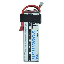 XXL 2S RC lipo battery 7.4v 3000mAh 35C For rc helicopter car boat quadcopter FPV Drone DJI