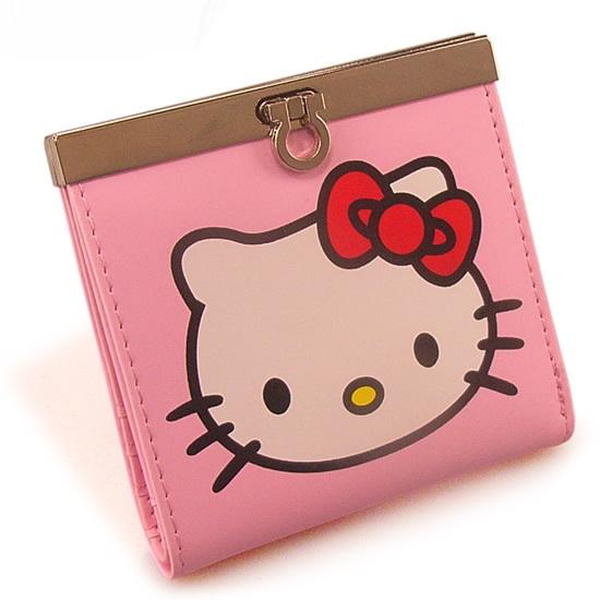 Free shipping 10 pcs/lot Wholesale cartoon wallet Clutch wallets Hello kitty classic purse KAWAI Money clip PU Cartoon wallet