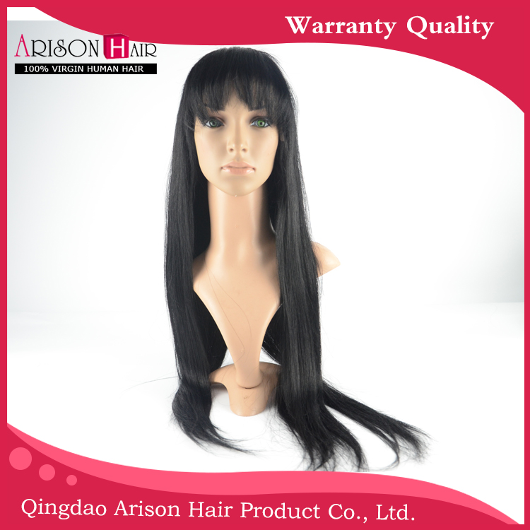 2015 7A Brazilian full lace human hair wigs Full Lace Front Wig Natural straight black women Instock - Arison 100% Human Hair store