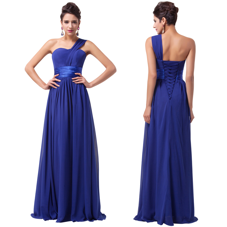 Chic cheap long royal blue bridesmaid dresses under 50 one for Cheap wedding dress under 50
