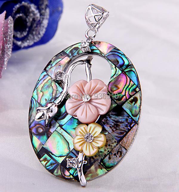 2014 Druzy For Pingente Locket Wholesale Free Shipping 10pcs Oval Flowers Paua Abalone Shell Necklace Pendants, Fashion Pendants <br><br>Aliexpress