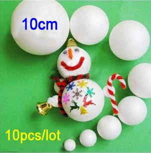 Foam christmas ball school arts crafts smooth polystyrene decorations