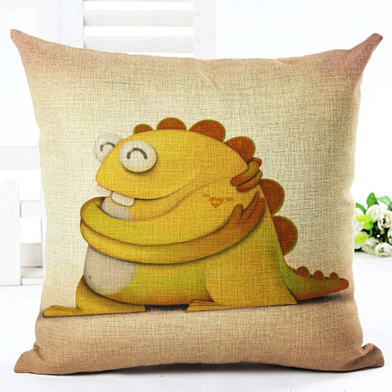 Cute Monster Pillow : 2016 45X45 High Quality Cartoon Style Cute Monster Home decor Sofa Cushion Throw Pillow Cojines ...