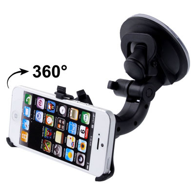 Hot Sale Universal Car Holder for iPhone 5 & 5C & 5S Support 360 Degree Rotation Free Shipping(China (Mainland))